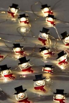 20 Snowman Line Lights