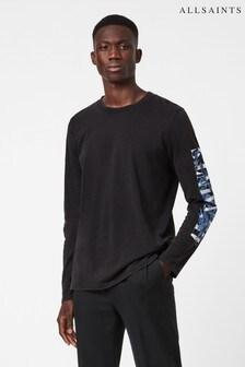 AllSaints Black Draco Long Sleeve T-Shirt