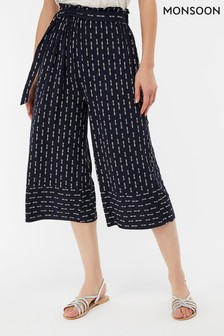 Monsoon Ladies Blue Chrissy Jersey Trouser