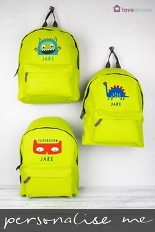 Personalised Dinosaur Backpack by Loveabode