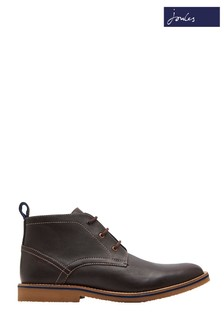 Joules Brown Hyde Leather Ankle Boot