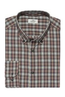 Check Slim Fit Single Cuff Button Down Shirt