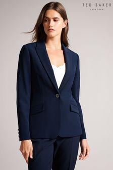 Ted Baker Blue Rrae Slim Tailored Jacket