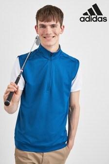 adidas Golf Blue Half Zip Gilet