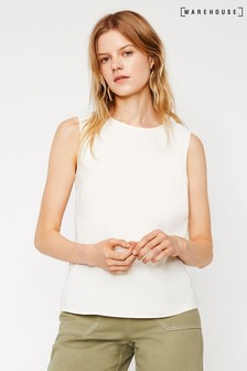Warehouse Satin Tipped Shell Top