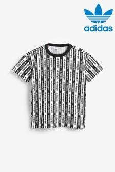 adidas Originals Black/White R.Y.V Striped T-Shirt