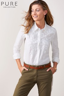 Pure Collection White Linen Shirt