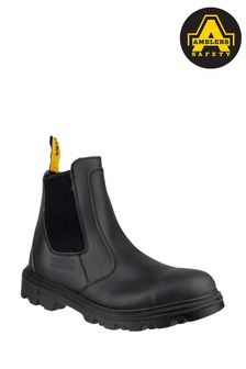 Amblers Safety Black FS129 Water Resistant Pull-On Safety Dealer Boots