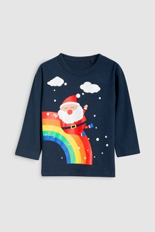 Long Sleeve Santa Rainbow Top (3mths-6yrs)