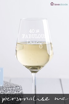 Personalised Fabulous Wine Glass by Loveabode
