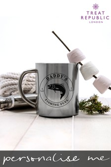 Personalised Gentlemen's Fishing Fuel Fishing Mug by Treat Republic