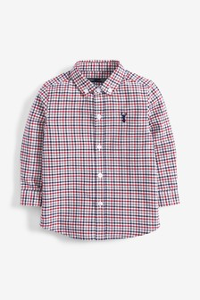 Long Sleeve Check Oxford Shirt (3mths-7yrs)