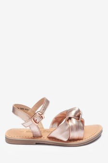 Leather Knot Sandals (Younger)
