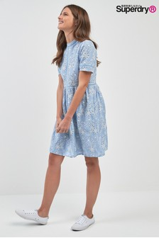 Superdry Chambray-Kleid, blau