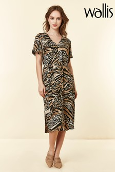 Wallis Natural Mixed Animal Shirt Dress