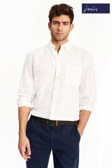 Joules White Long Sleeve Classic Fit Laundered Oxford Shirt