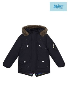baker by Ted Baker Blue Parka