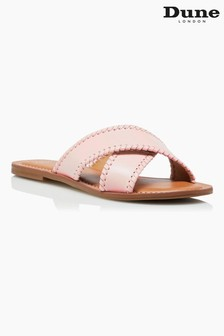Dune London Pink Lindsy Cross Strap Whip Stitch Sandals