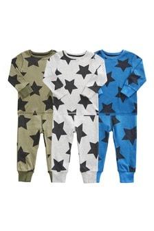 3 Pack Star Snuggle Pyjamas (9mths-12yrs)