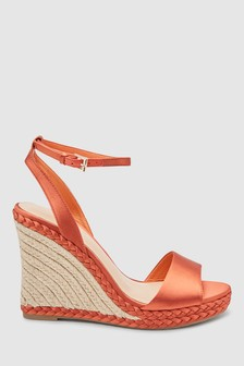 Plait Detail Espadrille Wedges