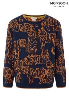 סוודר של Monsoon דגם Lenny Tiger בצבע נייבי