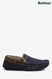 Barbour® Monty Navy Suede Slippers