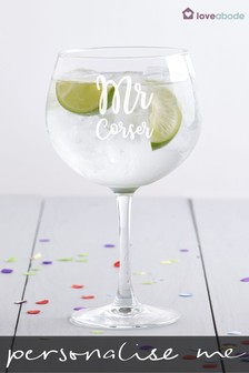 Personalised Mr Gin Glass