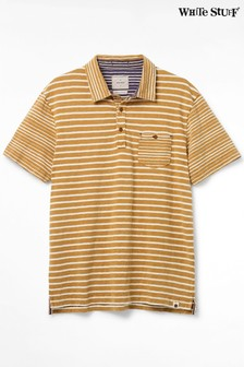 White Stuff Yellow Bronsea Stripe Poloshirt