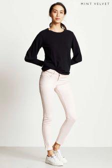 Mint Velvet Pink Split Hem Jean