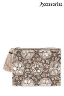 Accessorize Metallic Freya Embellished Coin Purse