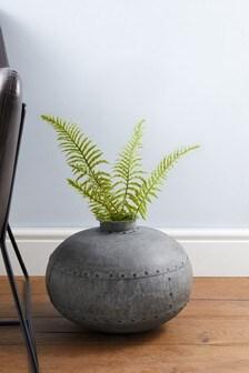 Metal Rivet Vase