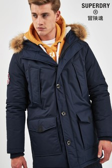 Superdry Navy Everest Coat