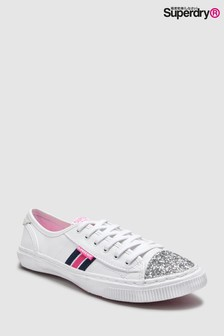 Superdry Tape Low Pro Sneaker With Glitter Front