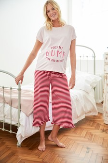 Maternity Stripe Pyjamas