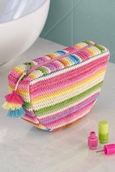 Rainbow Raffia Cosmetic Bag