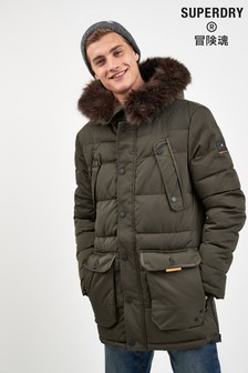Superdry Khaki Parka Coat