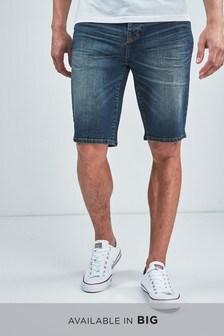 Pantalones cortos de denim en verde