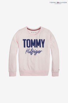 Tommy Hilfiger Pink Appliqué Sweater