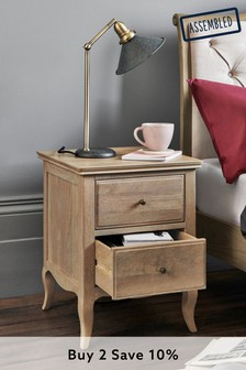 Madeline 2 Drawer Bedside Table