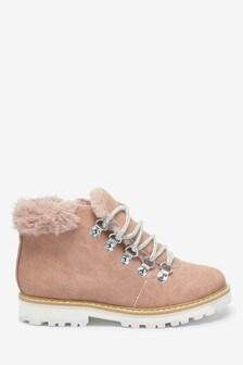 Faux Fur Trim Hiker Boots (Older)