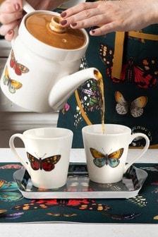 12 Piece Pimpernel Botanic Garden Mug And Tray Set