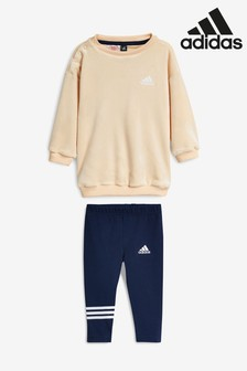 adidas Infant Cream/Navy Velvet Set