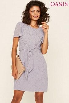 Oasis Purple Glitter Skater Dress