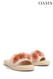 Oasis Natural Kirsten Pom Slider Sandal