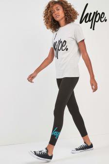 Hype. Black Teal Legging