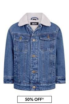 Kids Blue Cotton Denim Jacket