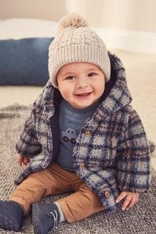 方格圖案絨毛夾克 (0個月至2歲)