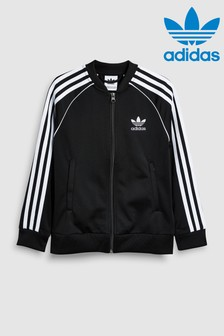 adidas Originals Black 3 Stripe Track Top