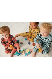 3 Pack Wild Animal Snuggle Pyjamas (9mths-10yrs)