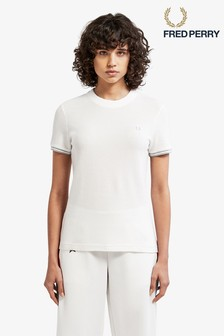 Fred Perry White Twin Tipper T-Shirt